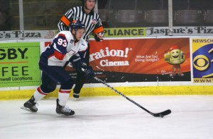 Justin Taylor scored the lone goal for the K-Wings in their 2-1 loss to the Stingrays on Wednesday night.  Photo by Darlene Ferrari