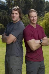 Bates (l) and Anthony Battaglia